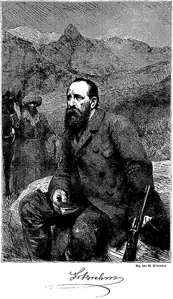 Wilhlem Simmler (1840−1914): Portrait Alfred Brehm (ca. 1860)