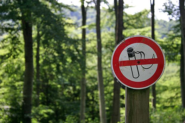 Rauchverbot im Wald - Foto: © Martina Berg